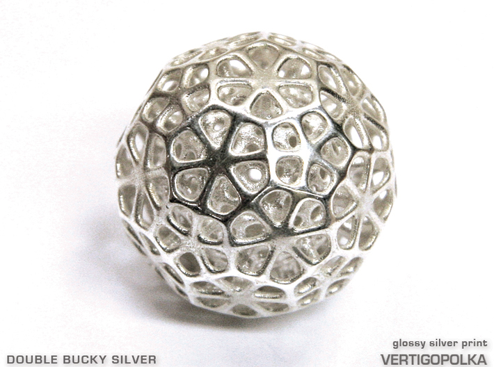 Double Bucky Silver 3d printed