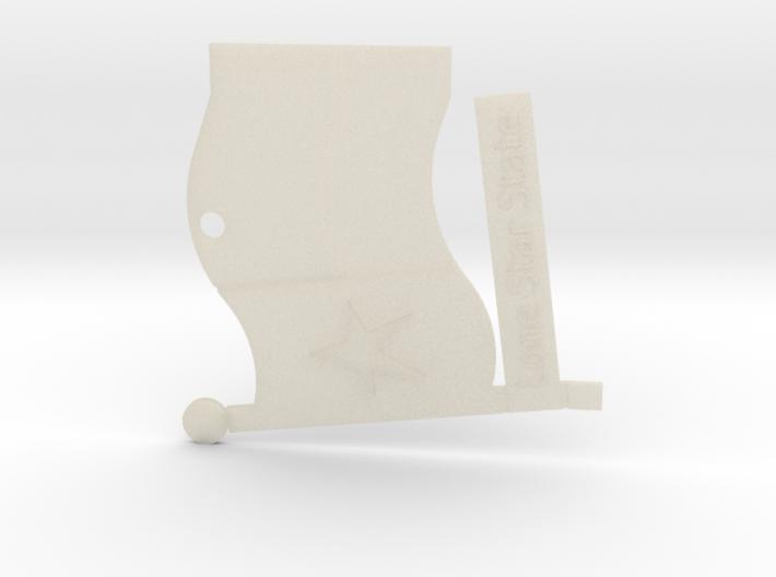"Lone Star Texas Flag Jewelry/Souvenir 2"" item. 3d printed"