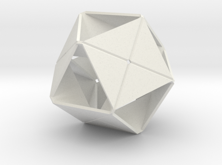 Octahedron of Folded Hexagons 3d printed