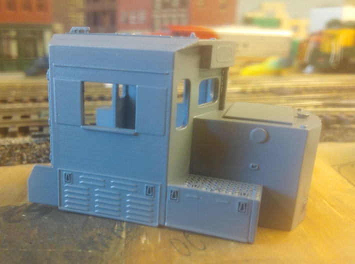HO scale 1:87 CSX SD40-3 Wabtec Cab 3d printed Cab in primer by Campbell.