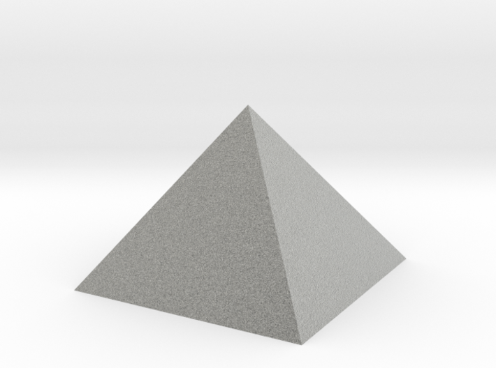 Pyramid 74mm Hollow Closed Hole - Square Johnson 3d printed