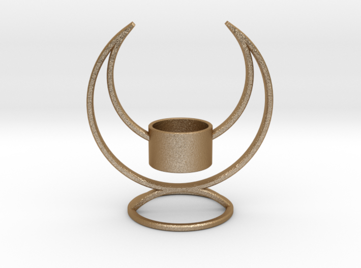 Candle Holder - 3D printed Candleholder 3d printed Solstice Candle Holder - Gorgeous in Gold Steel