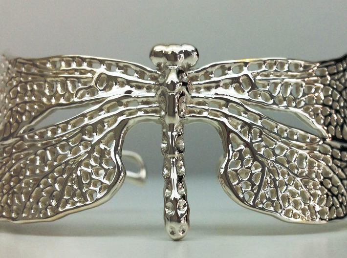 Dragonfly sizes XS-XL 3d printed premiumsilver