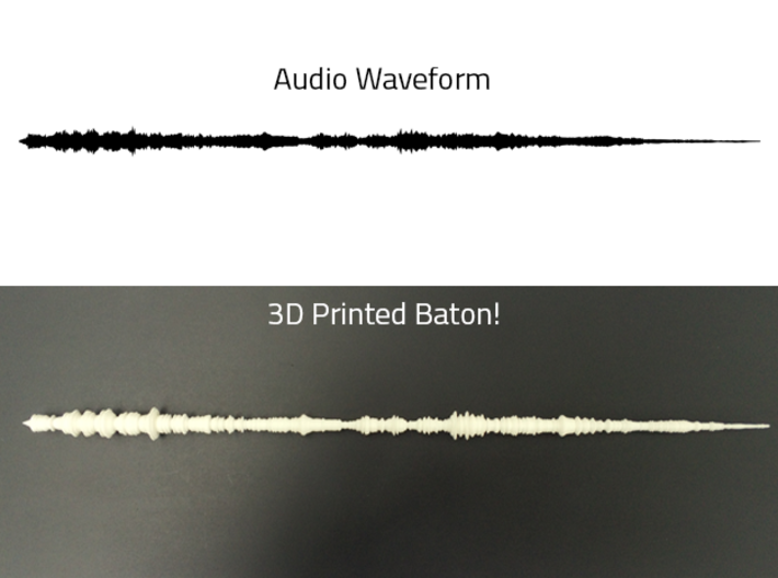 Beethoven Symphony No. 5 - Baton | Thick 3d printed Photo of thinner baton.