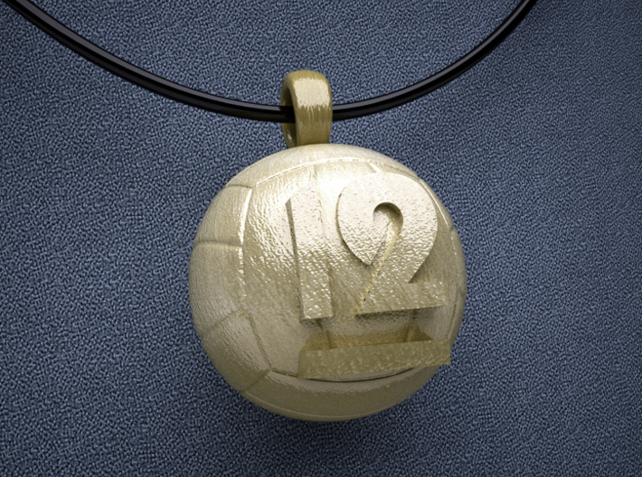 Volleyball Pendant #12 3d printed