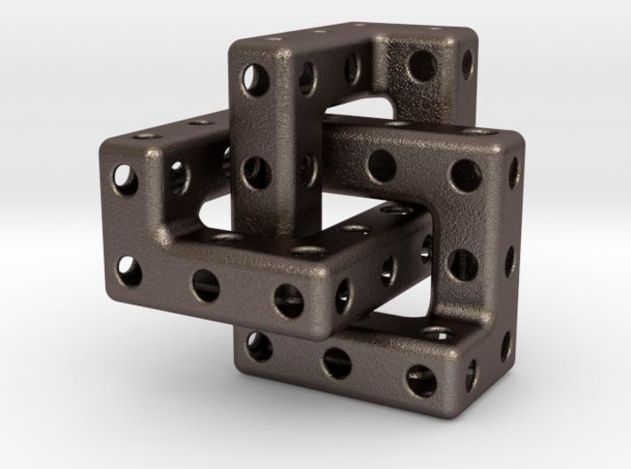 Cubic Trefoil Pendant 3d printed