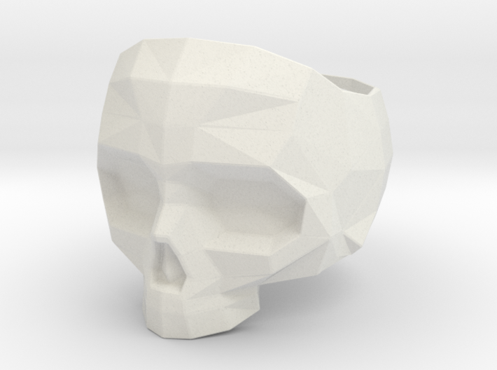 Lapidated Skull Ring Size 8 - 18.14 mm inner size 3d printed