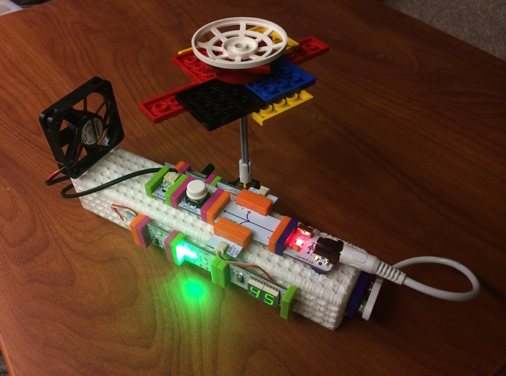 LittleWand V3 3d printed Sunny Buddy w/ littleBits build on littleWand