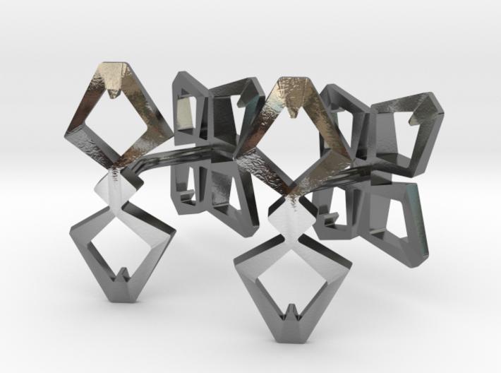 HEAD TO HEAD Ahead, Bend Cufflinks 3d printed