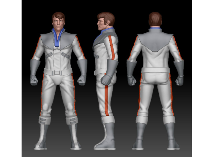 Spike homage Space Man 6.8inch Full Color Statue 3d printed Spike Digital Turnaround by Tecrom Designs