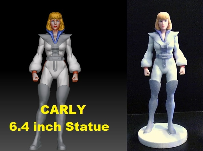 Carly homage Space Woman 6.4inch Full Color Statue 3d printed Carly 6.4 inch statue printed in Full Color Sandstone