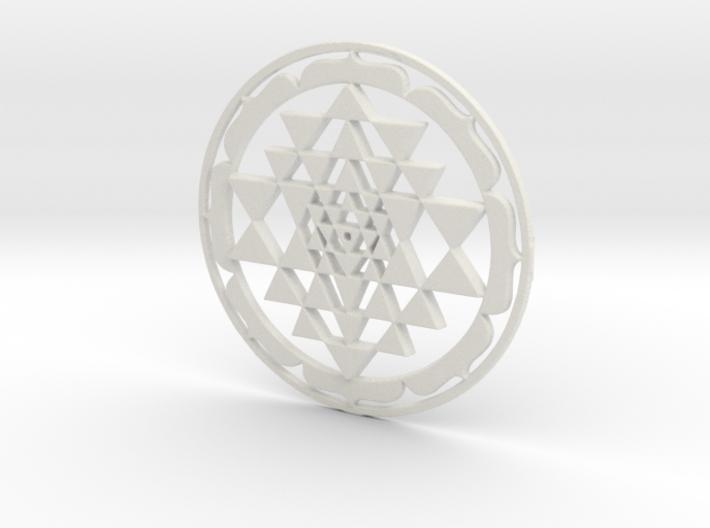 Sri Yantra Lotus Circle 42x2mm Super-accurate 3d printed