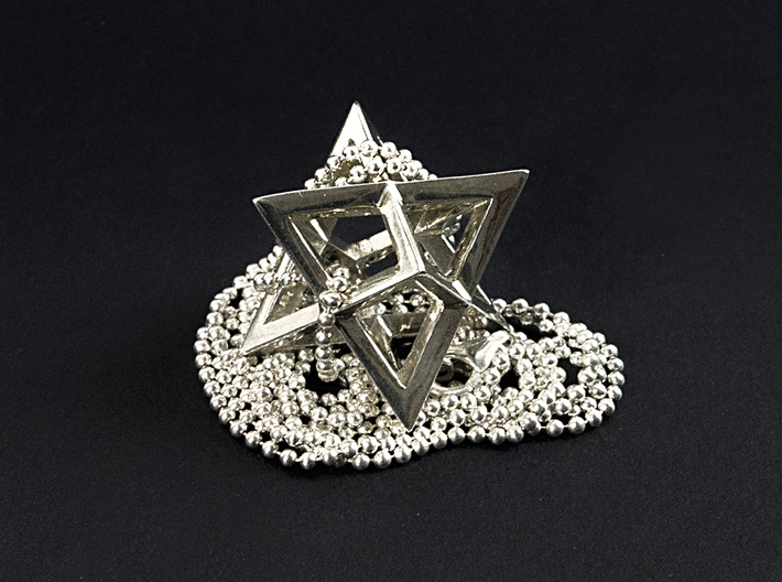 Star Tetrahedron pendant #Silver 3d printed