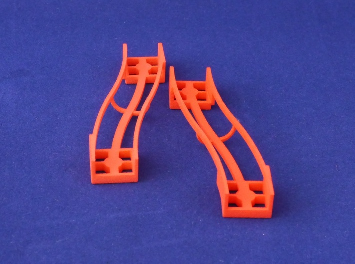 Marble Run Bricks: S-Bend Track Set 3d printed set content