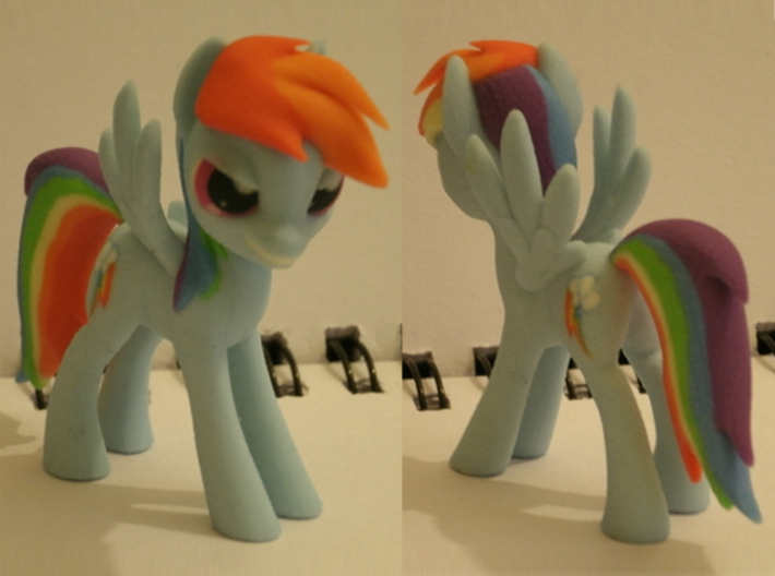 My Little Pony - Rainbow Dash (≈75mm tall) 3d printed