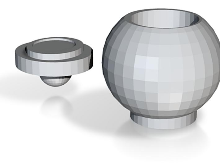 Round Jar With Lid 3d printed