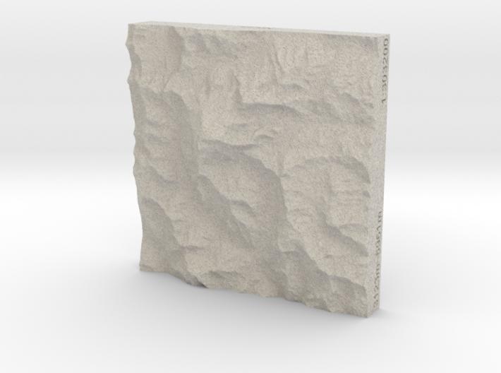 3''/7.5cm Aconcagua, Argentina, Sandstone 3d printed