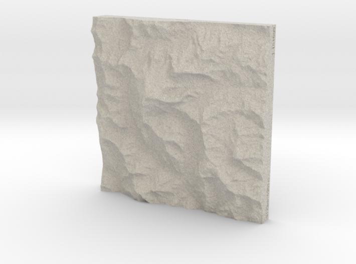 6''/15cm Aconcagua, Argentina, Sandstone 3d printed