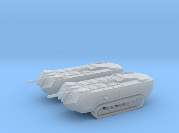 1/160 WW1 Saint-Chamond tanks x2 3d printed