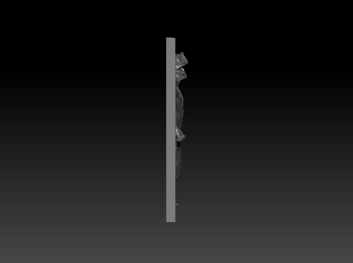Boy Soldier Panel Pendant 3d printed