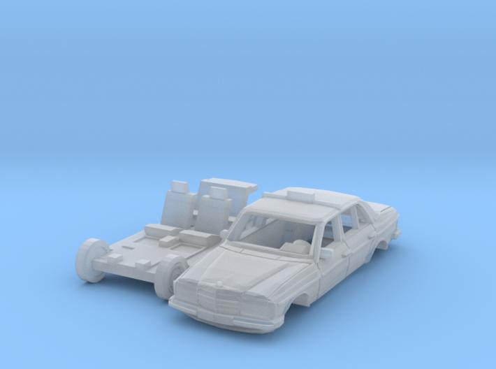 Mercedes-Benz W123 Taxi (N 1:160) 3d printed