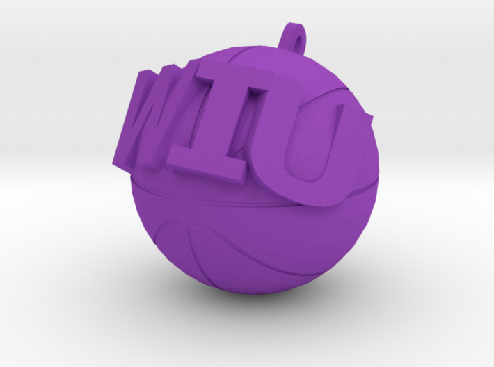 WIU Basketball charm 3d printed