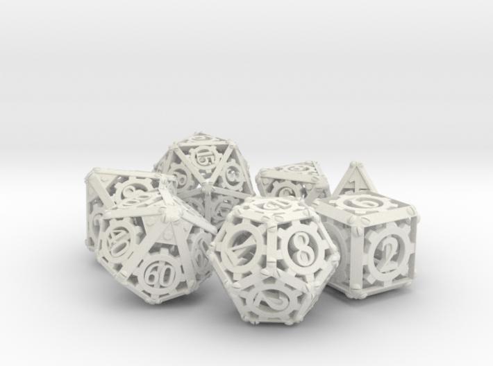 Steampunk Dice Set 3d printed
