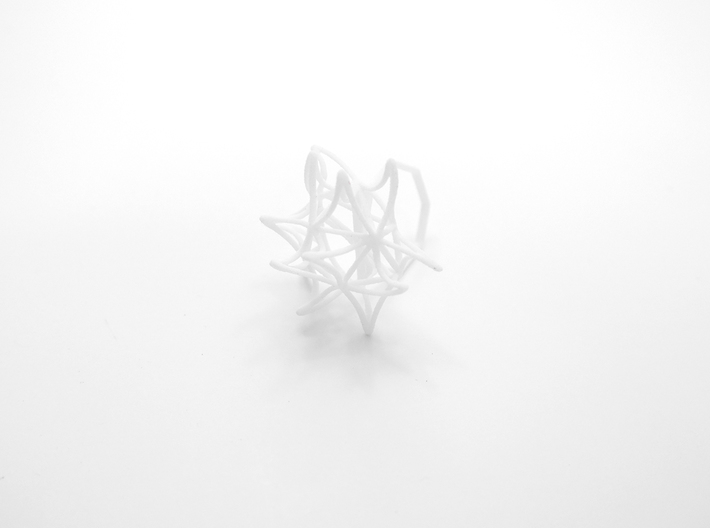 Aster Ring (Small) Size 9 3d printed
