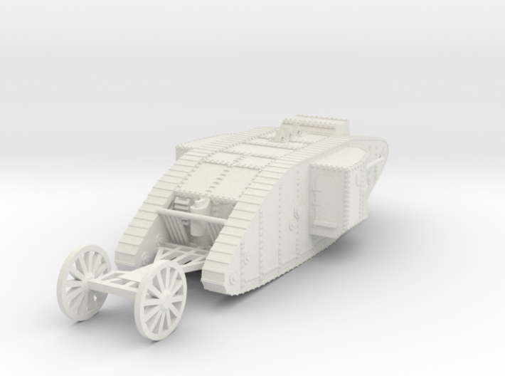 1/100 British Tank Mark 1 Male 3d printed