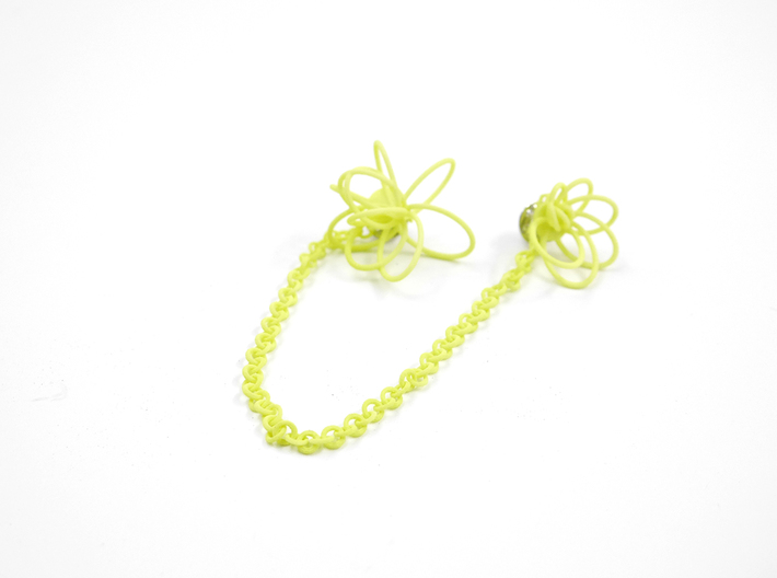 Flora Collar Tips 3d printed Key Lime Nylon (Custom Dyed Color)