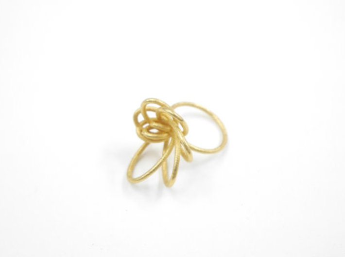 Flora Ring A (Size 9) 3d printed