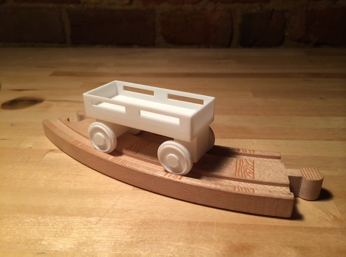 Flatbed wheels and axles compatible with Thomas t 3d printed