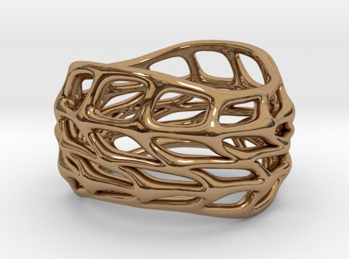 Panel Twist Hollow Ring (Sz 5) 3d printed