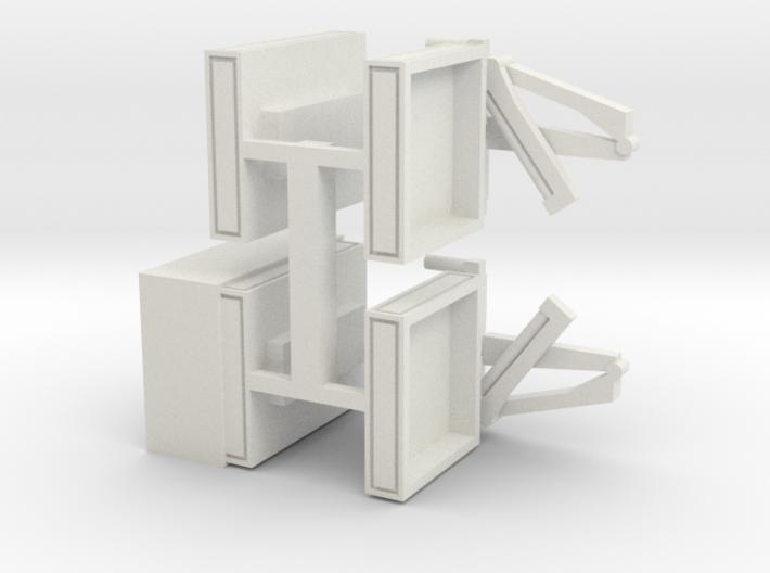 4 Pritschen für 1:220 (z scale) 3d printed
