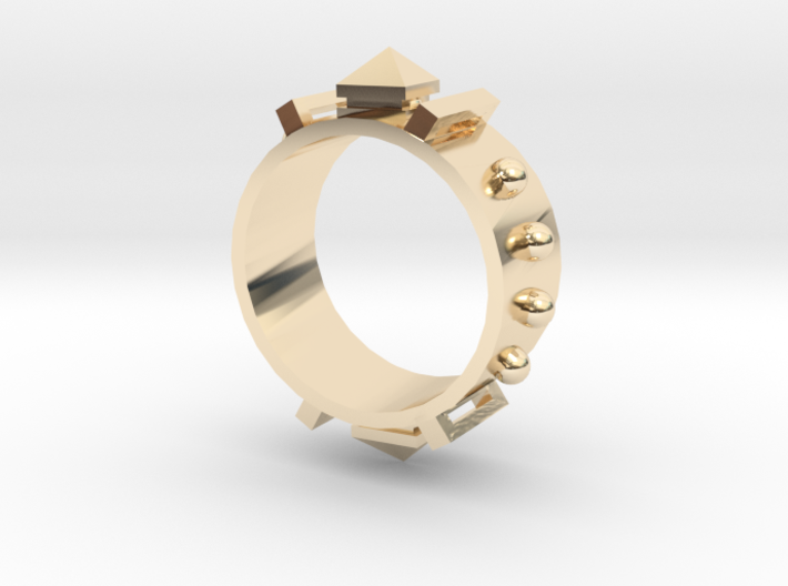 Edwardian Guard III Ring - Sz. 7 3d printed