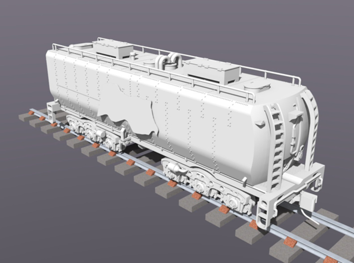 UP Water Tender HO Scale 1:87 Chassis & Parts 3d printed
