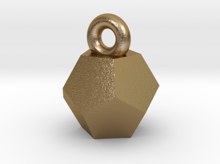Solid Dodecahedron charm 3d printed
