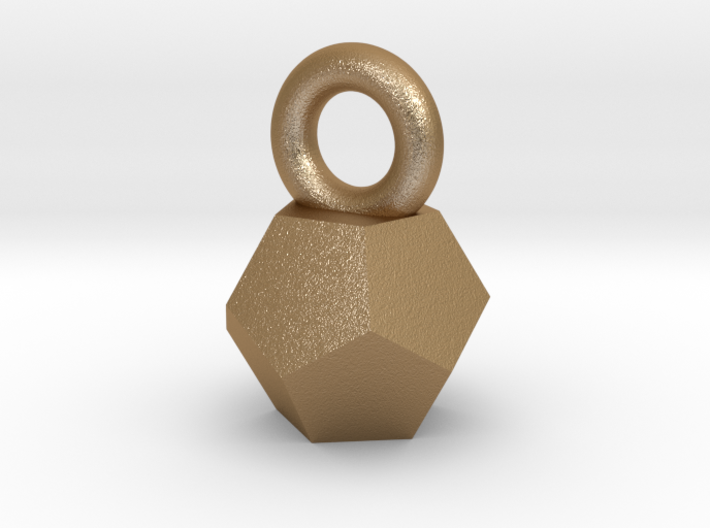 Solid Dodecahedron charm Small 3d printed