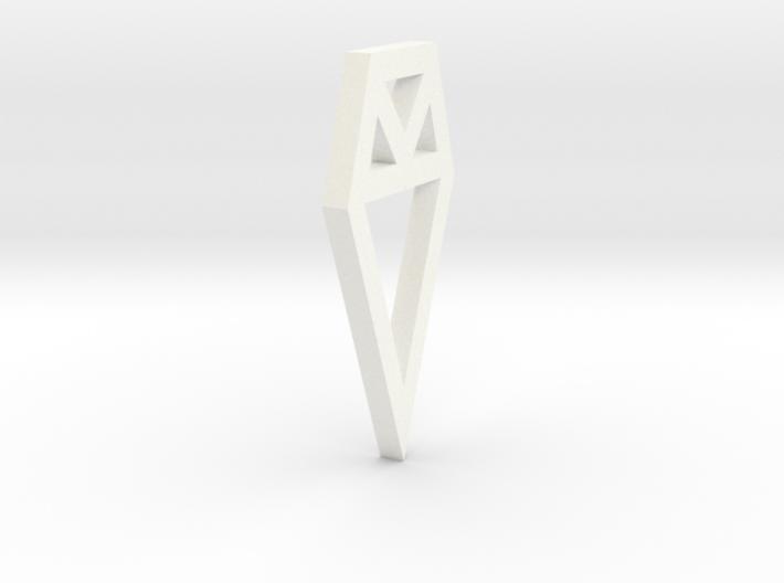 Flat Charm 3d printed