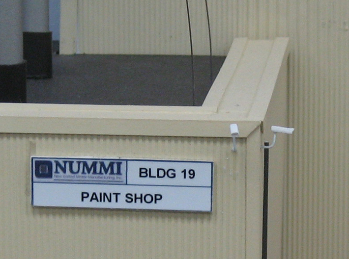HO Exterior Light Fixtures & Cameras 3d printed Video surveillance at NUMMI