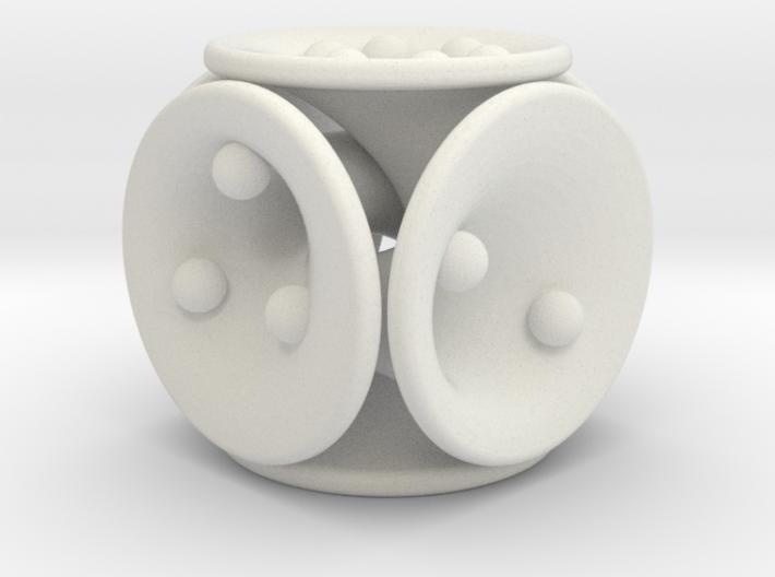 tubes&spheres dice 3d printed