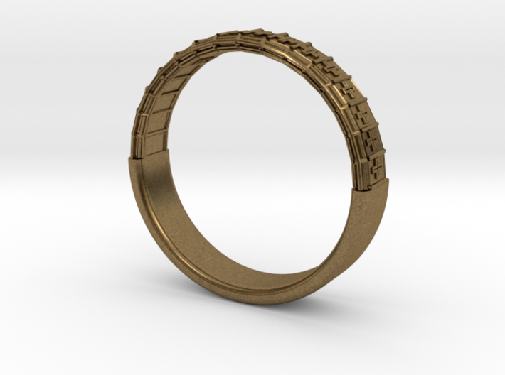 Atom Array Ring Detailed Half 3d printed