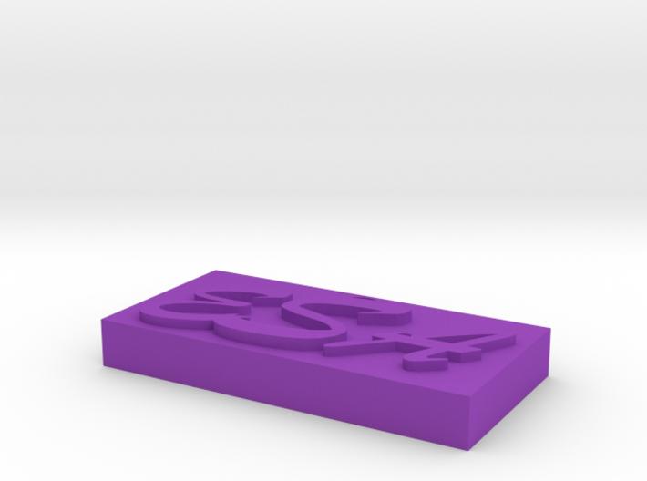 Name Necklace Pendant (custom initials) 3d printed