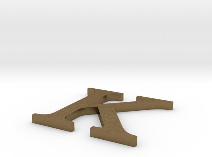 Letter-K 3d printed