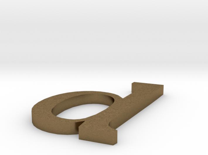 letter- d 3d printed