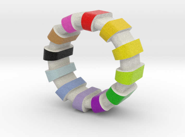 Style Ring colorful 3d printed