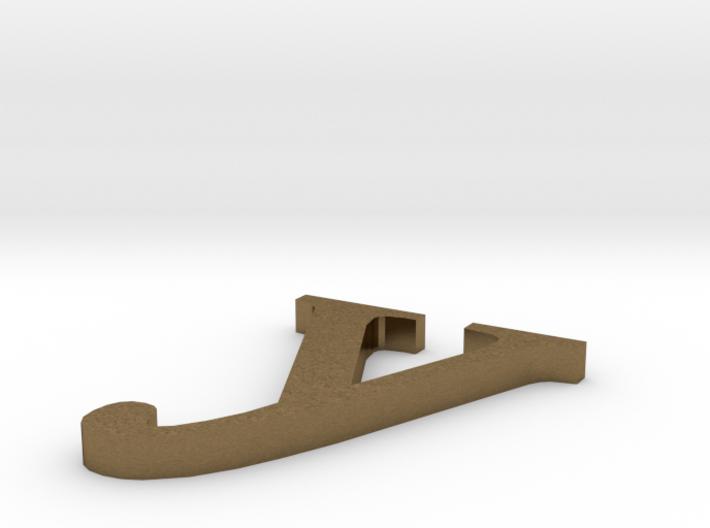 Letter- y 3d printed