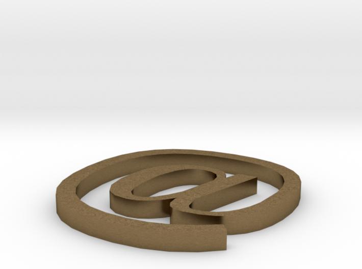 Symbol- @ 3d printed