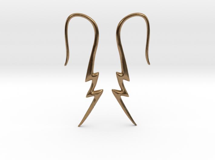 Lightning Bolt Earrings 14g