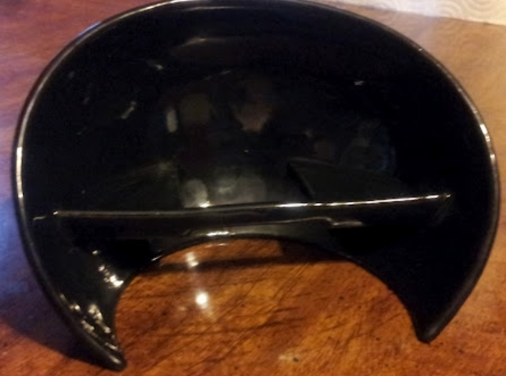 Ceramic Acoustabowl 3d printed Black Glossy Ceramic